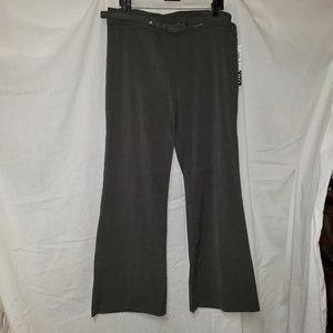 Wide leg slacks with belt
